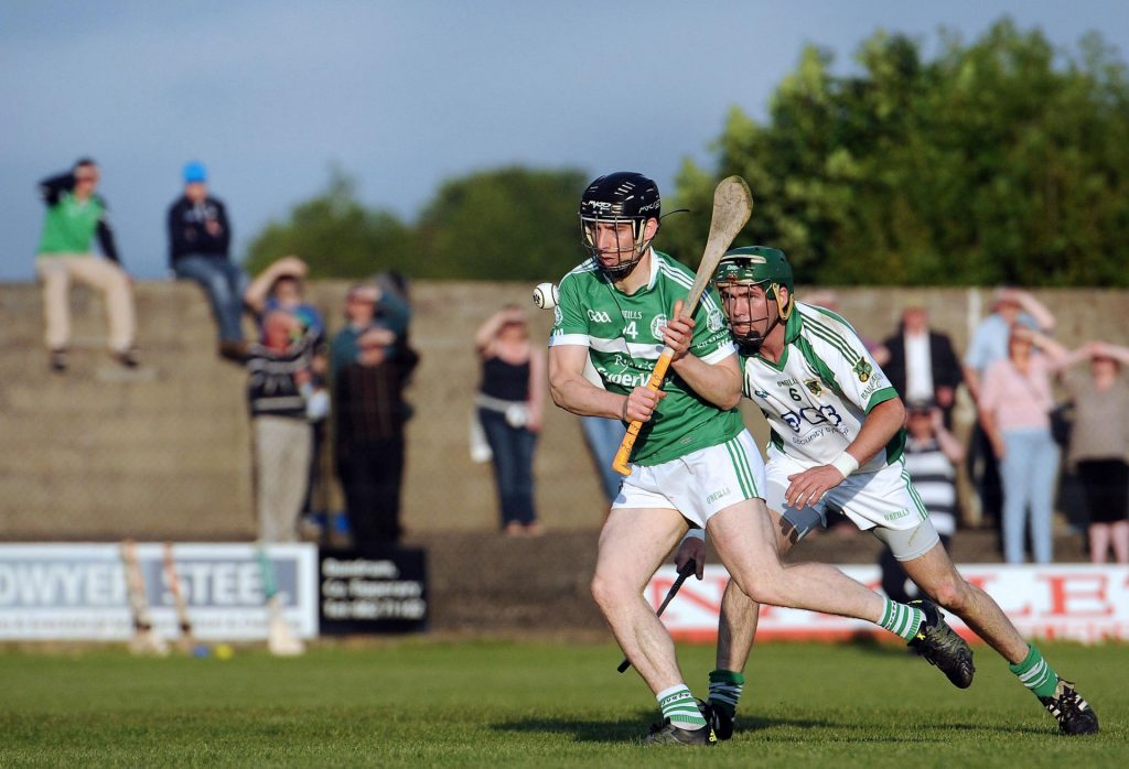Graeme Mulcahy has a shot at goal v Ballybrown - May 2016